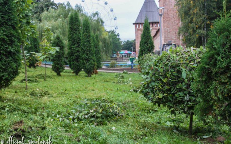«Зеленстроевцы» привели в порядок территорию возле памятника Федору Коню