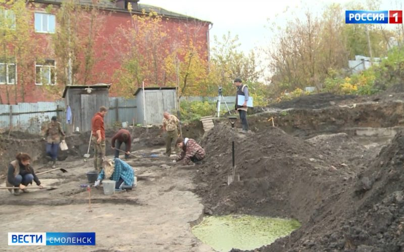 В Смоленске археологи обнаружили дорогу, которой тысяча лет