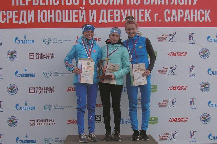 15-летняя жительница Гагарина стала победителем первенства России по летнему биатлону