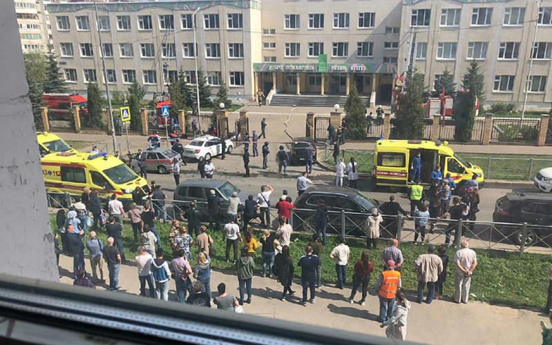 В одной из школ Казани открыли стрельбу: много погибших и пострадавших