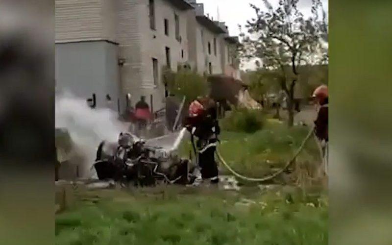 В Белоруссии упал боевой самолет