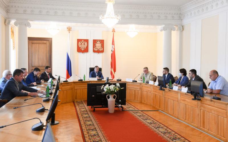 В администрации Смоленской области обсудили реализацию нацпроекта «Безопасные качественные дороги» на территории региона